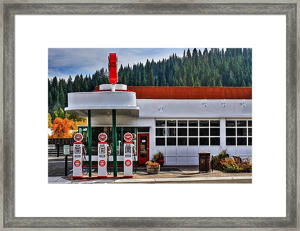 Flying A Gas Framed Print