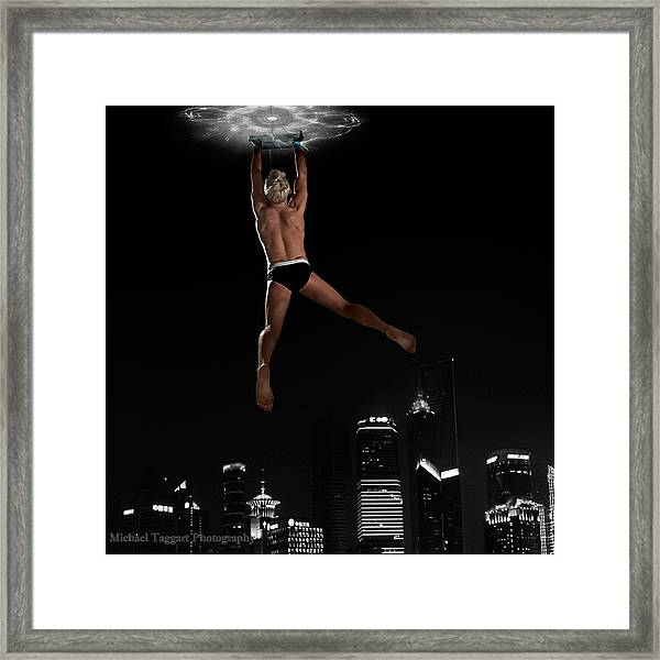 Framed Print featuring the photograph Flying Avenger by Michael Taggart