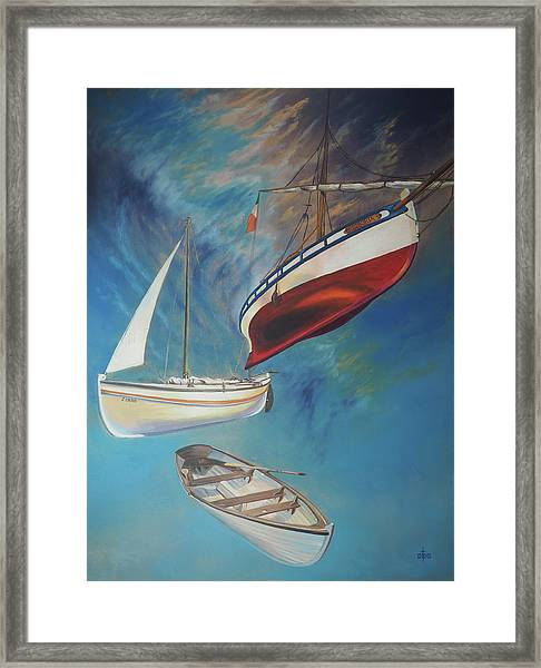 Flying Boats Framed Print