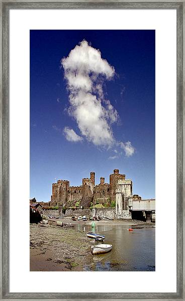 Flying Dragon Conwy Castle Framed Print