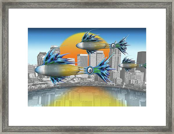 Flying Fisque  Framed Print