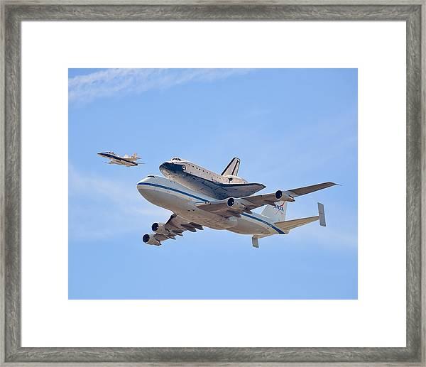 Flying Into History Framed Print