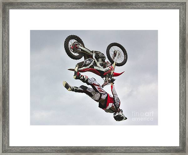 Flying Inverted Framed Print