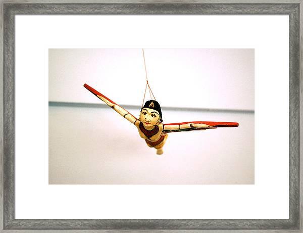 Flying Lady Framed Print
