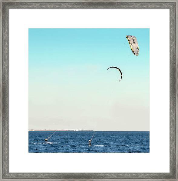 Flying On A Breeze Framed Print