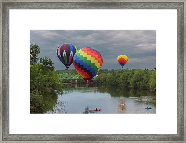 Flying Over The Androscoggin Framed Print