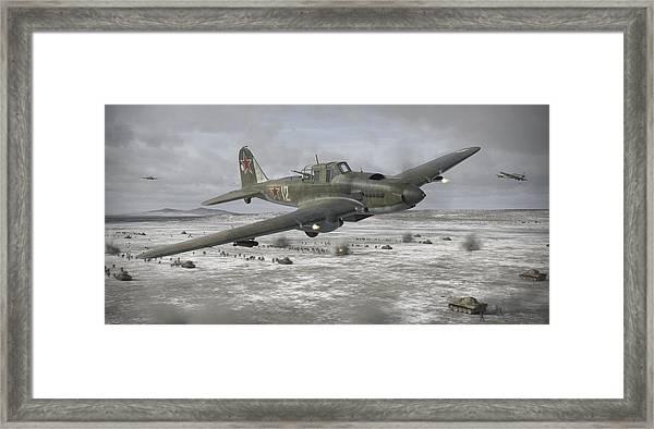 Flying Tank Framed Print