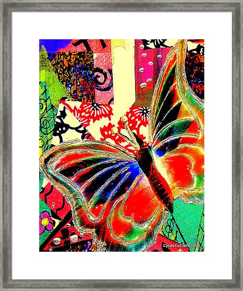 Flying Toward The Light Framed Print by Cynda LuClaire