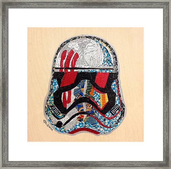 Storm Trooper Fn-2187 Helmet Star Wars Awakens Afrofuturist Collection Framed Print