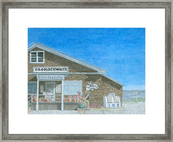 Framed Print featuring the painting F.o. Goldthwaite by Dominic White