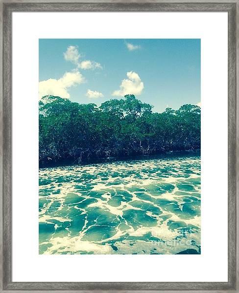 Foamy Water Framed Print