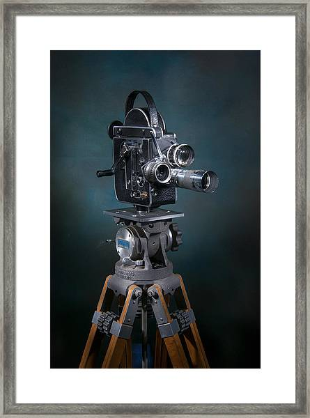Framed Print featuring the photograph Focus In Blue by Break The Silhouette