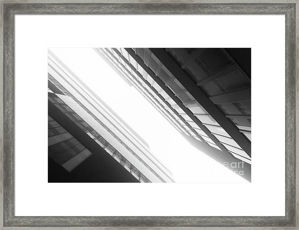 Fog Technopolis Framed Print by Tapio Koivula