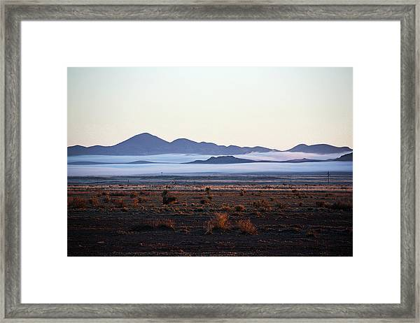 Fog In The Peloncillo Mountains Framed Print