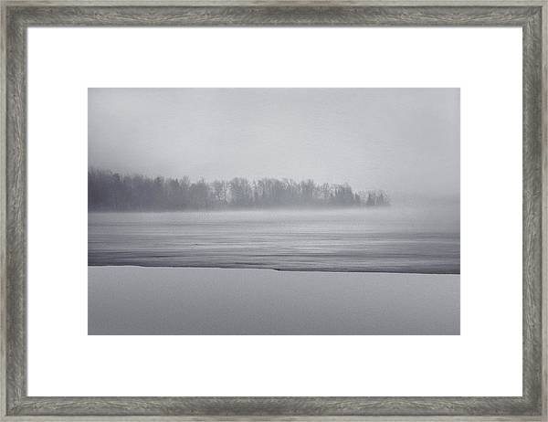 Fog Light Framed Print