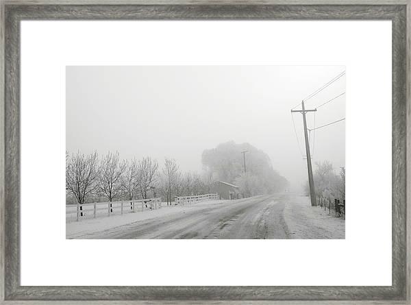 Fog On Floweree Dr Framed Print