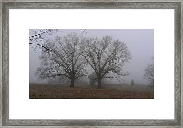 Fog On The Yorktown Battlefield Framed Print