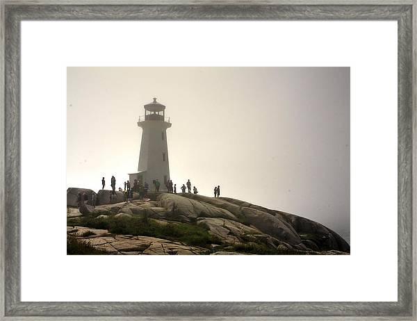 Fog Rolling In  Framed Print