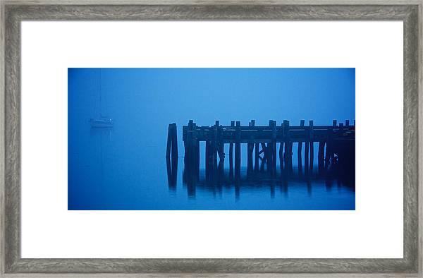 Shrouded In Fog, Morro Bay Framed Print