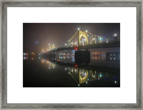 Foggy Allegheny River Framed Print