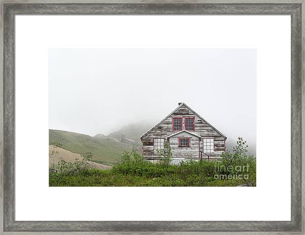Foggy And Abandoned Framed Print
