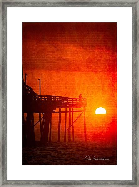 Foggy Avalon Sunrise 9129 Framed Print