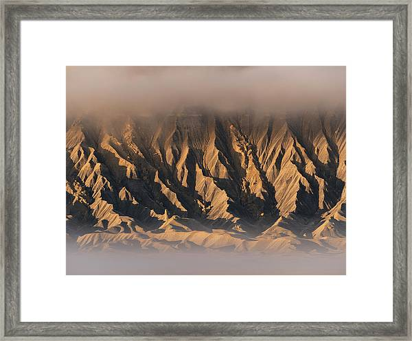 Foggy Butte Framed Print