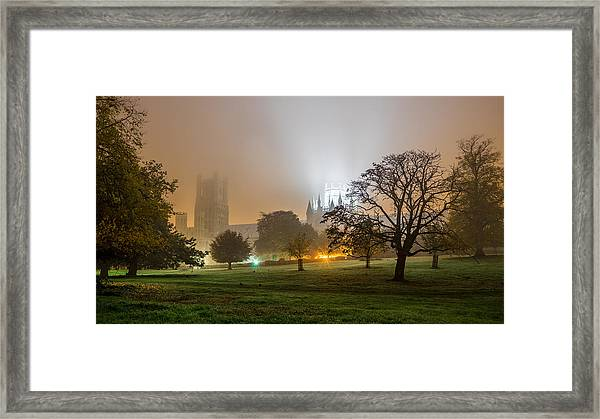 Foggy Cathedral Framed Print