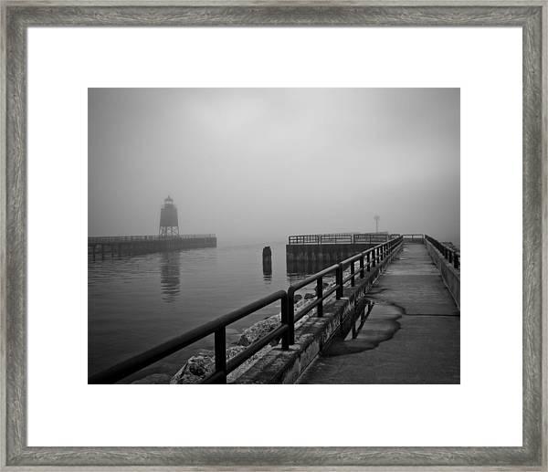 Foggy Charlevoix Framed Print