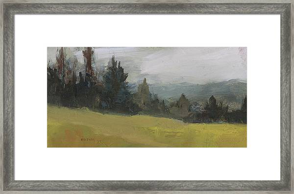 Foggy Hill Framed Print
