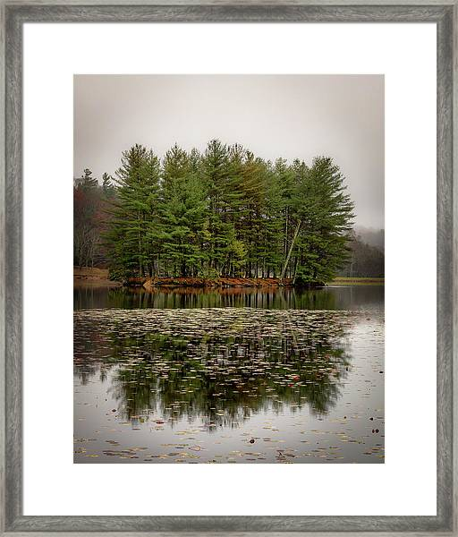 Foggy Island Reflections Framed Print