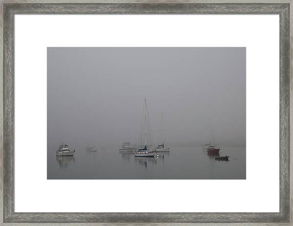 Waiting Out The Fog Framed Print