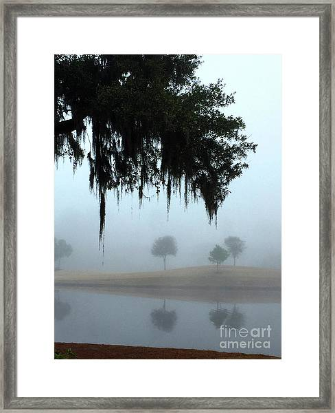Foggy Morn Reflections Framed Print