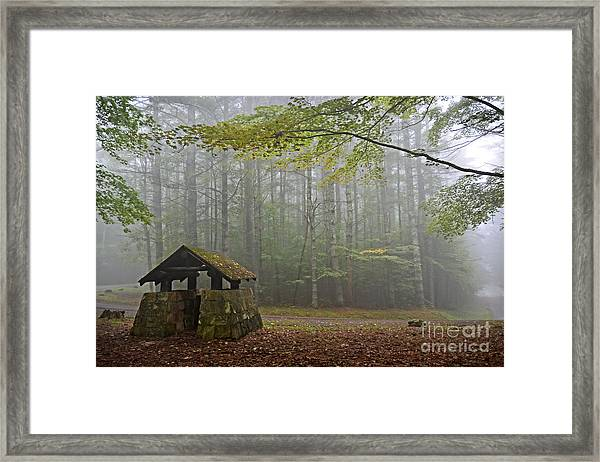 Foggy Morning At Droop Mountain Framed Print