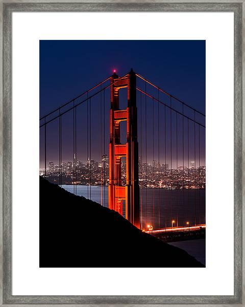 Foggy San Fransisco Framed Print