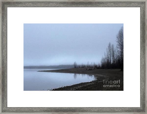 Foggy Water Framed Print
