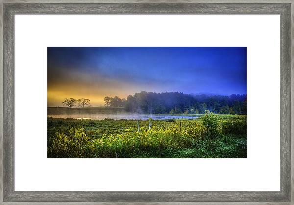 Fogy Sunrise  Framed Print