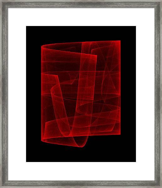 Folds Over I Framed Print