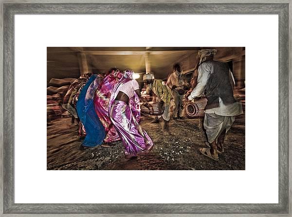 Folk Dance Framed Print