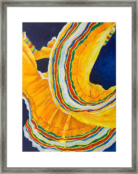 Folklorica In Yellow Framed Print