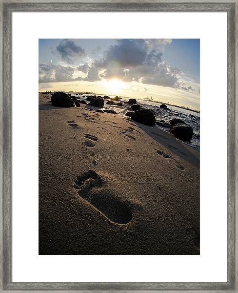 Follow In His Steps Framed Print