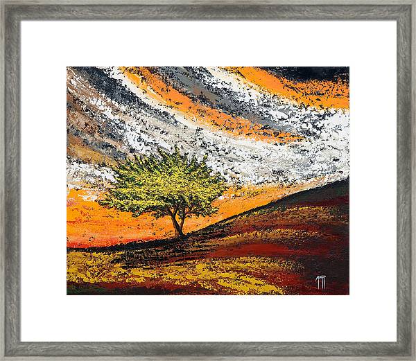 Follow The Clouds Framed Print