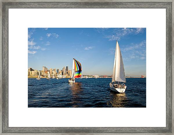 Follow The Rainbow Framed Print by Tom Dowd
