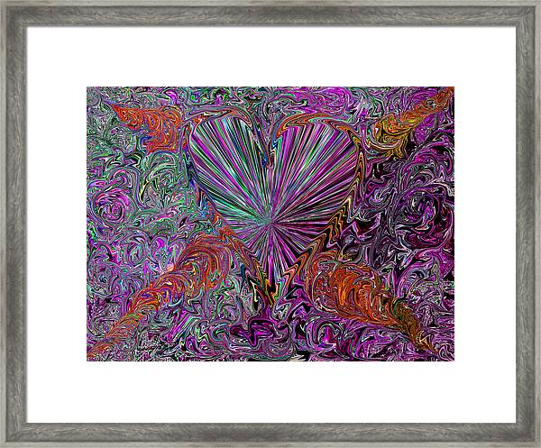 followed     Your    love         to the depth of infinity - Framed Print