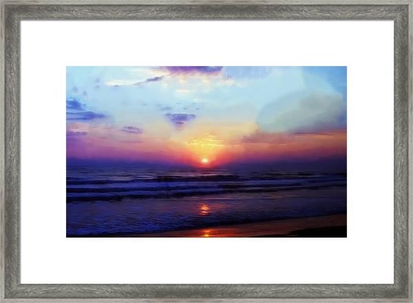 Folly Beach South Carolina Sunrise Framed Print