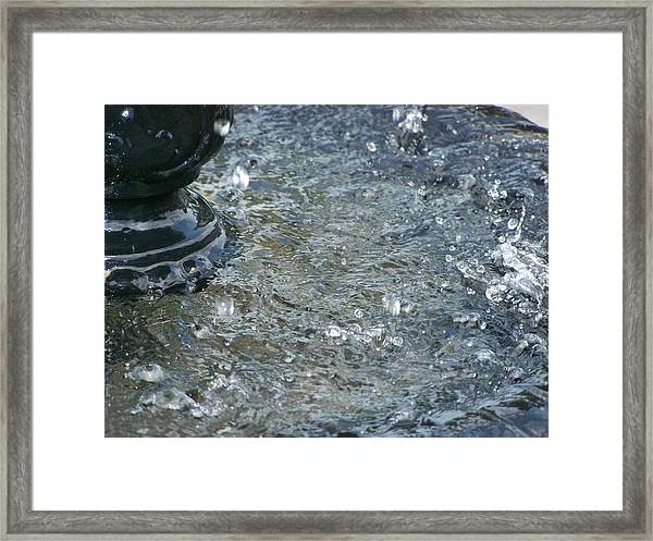 Foot Of The Fountain Framed Print