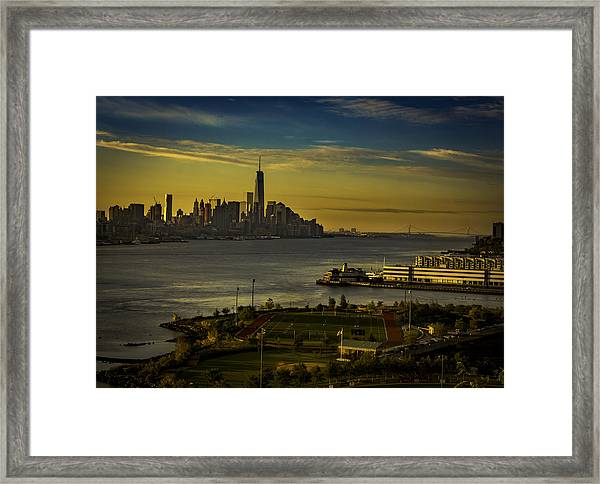 Football Field With A View Framed Print