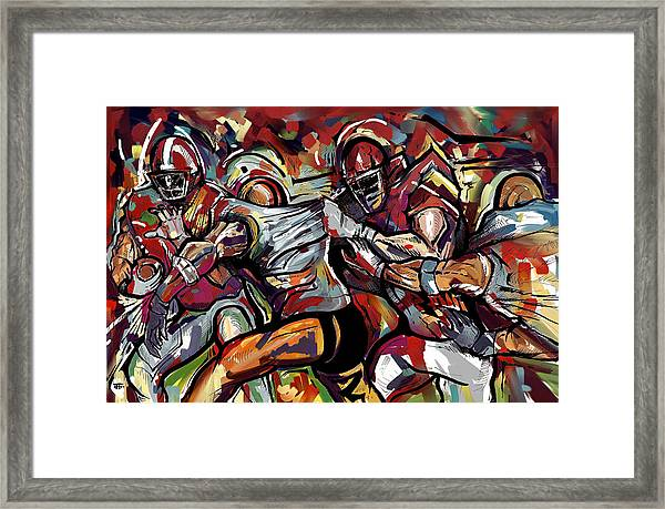 Football Frawl Framed Print