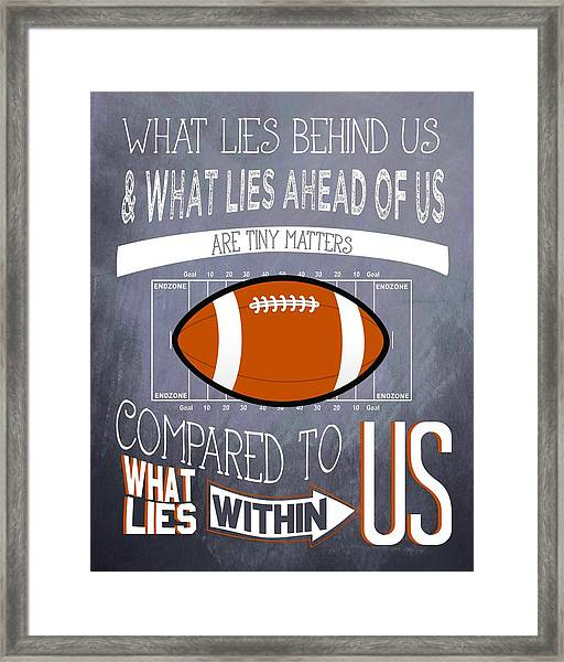 Football Inspiration Framed Print