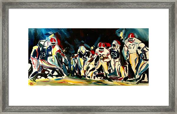 Football Night Framed Print